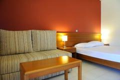 Interno di camera di albergo Fotografie Stock Libere da Diritti