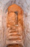 Interno di Castel del Monte, Puglia, Italia Fotografia Stock Libera da Diritti