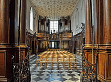Interno di Chapelle de Bois-Seigneur-Isaac Fotografia Stock