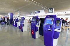 Interno di Charles de Gaulle Airport Immagine Stock