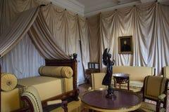 Interno di Chateau de Malmaison, Francia Fotografie Stock