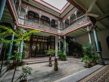 Interno di Cheong Fatt Tze famoso, palazzo blu Fotografie Stock Libere da Diritti