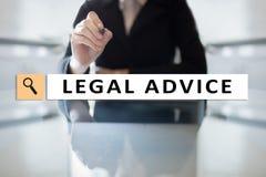 Interno di consiglio legale sullo schermo virtuale consulto Avvocato avvocato, concetto di finanza e di affari immagine stock libera da diritti