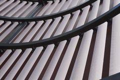 interno di costruzione con la scanalatura e la curva Immagine Stock