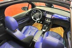 Interno convertibile dell'automobile Fotografie Stock Libere da Diritti