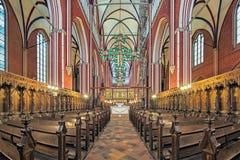 Interno di Doberan Minster in cattivo Doberan, Germania Fotografie Stock Libere da Diritti