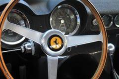 interno di Ferrari degli anni 50 Fotografia Stock