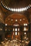 Interno di Hagia Sophia a Costantinopoli Fotografia Stock Libera da Diritti