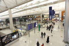 Interno di Hong Kong International Airport Immagine Stock Libera da Diritti