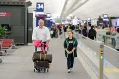 Interno di Hong Kong International Airport Fotografia Stock