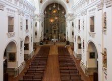 Interno di Iglesia de San Ildefonso in Toledo Spain Fotografie Stock Libere da Diritti