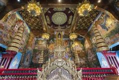 Interno di Inthakin o del santuario Chiang Mai, Tailandia della colonna della città immagini stock