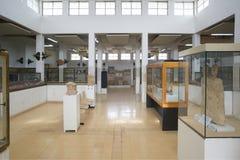 Interno di Jordan Archaeological Museum a Amman Fotografia Stock