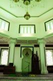 Interno di Kuala Lumpur Jamek Mosque in Malesia Fotografie Stock Libere da Diritti