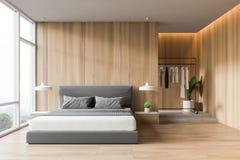Interno di legno della camera da letto illustrazione vettoriale