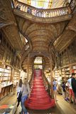 Interno di Lello Bookshop a Oporto, Portogallo Immagine Stock Libera da Diritti