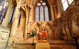 Interno di Lincoln Cathedral Fotografia Stock Libera da Diritti