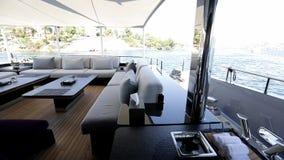 Interno di lusso del motoryacht