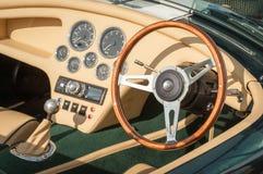 Interno di lusso dell'sport-automobile Fotografia Stock Libera da Diritti