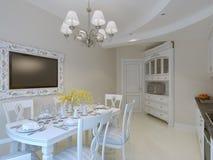 Interno di lusso della sala da pranzo Fotografia Stock
