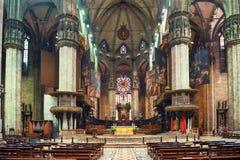 Interno di Milan Duomo Cathedral Immagine Stock Libera da Diritti