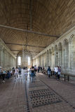Interno di Mont Saint Michel Abbey, Francia Immagine Stock Libera da Diritti