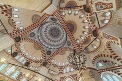 Interno di Mosque della moschea o di principe o di Sehzade Camii di Sehzade della moschea di Sehzade fotografia stock libera da diritti