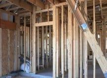 Interno di nuova casa in costruzione Immagine Stock Libera da Diritti
