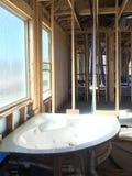 Interno di nuova casa in costruzione Fotografia Stock