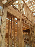 Interno di nuova casa in costruzione Fotografie Stock