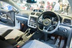 Interno di nuovo Volkswagen Scirocco a Singapore Motorshow 2015 Fotografia Stock Libera da Diritti