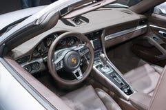 Interno di Porsche 911 Turbo Immagini Stock Libere da Diritti