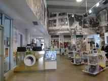 Interno di Sanford Lab Homestake Visitor Center, cavo, Sud Dakota fotografie stock libere da diritti