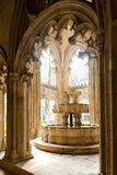 interno di Santa Maria da Vitoria Monastery, Batalha, Estremadu fotografia stock libera da diritti