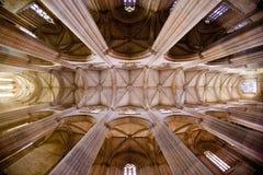 interno di Santa Maria da Vitoria Monastery, Batalha, Estremadu fotografia stock