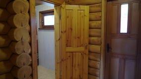 Interno di sauna - rilassi in una sauna calda video d archivio
