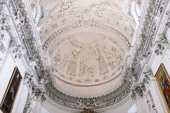 Interno di St Peter e della st Paul Church a Vilnius Immagine Stock