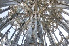 Interno di Steeple della cattedrale di Ulm Fotografia Stock