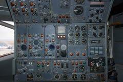 Interno di un aereo immagine stock