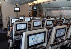 Interno di un aeroplano del passeggero fotografie stock libere da diritti