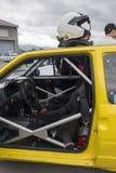 INTERNO DI UN'AUTOMOBILE DI RADUNO Fotografia Stock