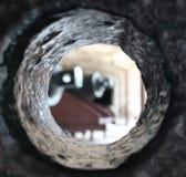 Interno di un barilotto del cannone a Sumter forte Immagini Stock Libere da Diritti