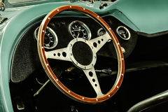 Interno di un convertibile classico dell'automobile del corredo Immagine Stock Libera da Diritti