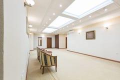 Interno di un corridoio dell'albergo di lusso Fotografia Stock Libera da Diritti