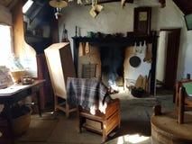 Interno di un crofthouse Fotografie Stock