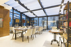 Interno di un ristorante dell'hotel Fotografie Stock