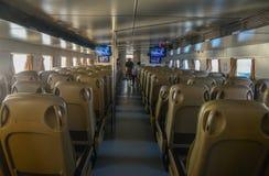 Interno di un traghetto ad alta velocità moderno Fotografia Stock