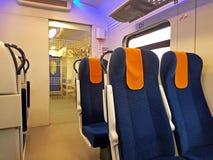 Interno di un vagone ferroviario moderno del ` s Fotografia Stock Libera da Diritti