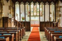 Interno di una chiesa cristiana Immagini Stock