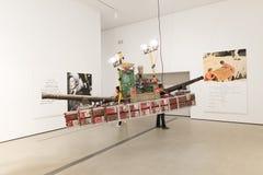 Interno di vasto Art Museum contemporaneo fotografia stock